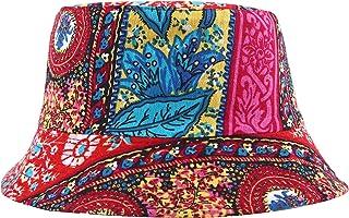 ZLYC, cappello unisex con stravagante stampa floreale, ispirata alle piante della foresta pluviale. Berretto di tela, stile cappello da pesca
