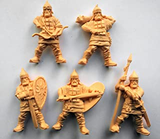 Fantasy Battles Russian Knights 54 mm 1/32 - 5 History Figures Tehnolog Russian Toy Soldiers
