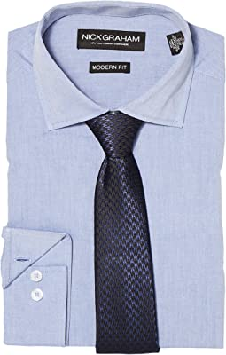 Chambray Shirt with Tie