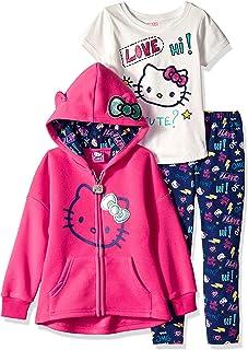Hello Kitty Girls' 3 Piece Hooded Legging Set