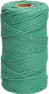 Filani Lieblingsgarn - Premium Makramee Garn 3 mm x 120 m aus Baumwolle in Green Sling