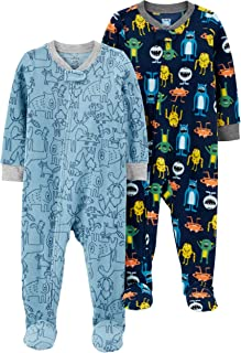 Carter`s Baby Boys 2-Pack Loose Fit Fleece Footed Pajamas
