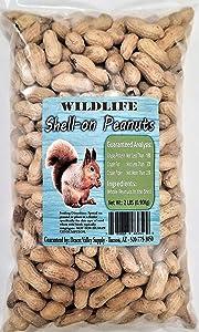 Premium Peanuts In Shell - Wild Bird - Wildlife Food - Squirrels - Deer - Cardinals - Jays & More (2-Pounds)