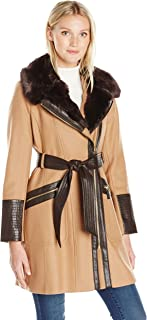 Via Spiga Women's Kate Wool-Blend Coat with Faux-Fur Collar