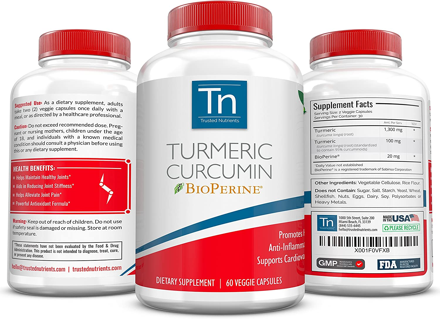 Trusted Nutrients Turmeric Curcumin Topics on TV BioPerineSupplement with Finally resale start