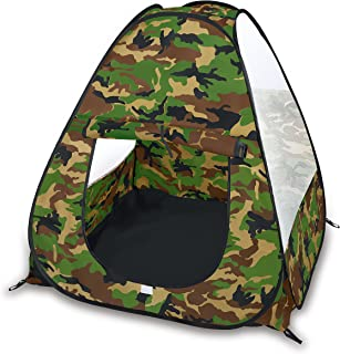 Liberty Imports Camouflage Military Pop Up Play Tent - Collapsible Indoor/Outdoor Army Playhouse for Kids