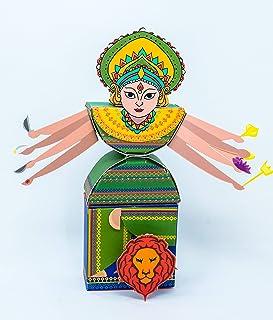 Desi Favors Durga mata DIYKids Kit - Birthday Diwali Dussehra gifts for Kids - Hindu culture