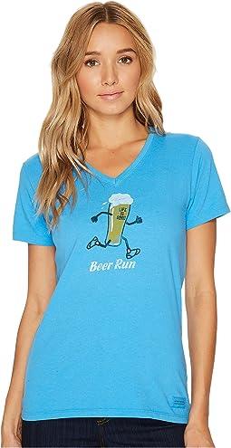 Life is Good - Beer Run Crusher Vee