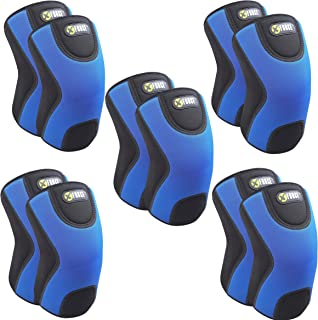XFORCE (5 Pairs) The Only 9MM Knee Brace Sleeve with Best Patella Compression for Meniscus Tear & Arthritis, Joint Pain Relief, Injury Recovery - Ideal for Running, Basketball, Tennis.