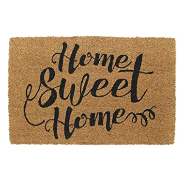"""Avera Products Home Sweet Home Welcome Mat, All Natural Coir Fiber with Anti-Slip PVC Backing