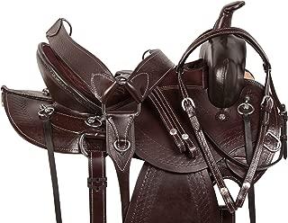 AceRugs Brown Saddle Western All Purpose Pleasure Trail Riding Horse TACK DEEP Comfy CUSH SEAT Full Quarter Bars