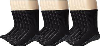 Dickies Men's Dri-Tech Comfort Crew Socks, Black, 18 Pair
