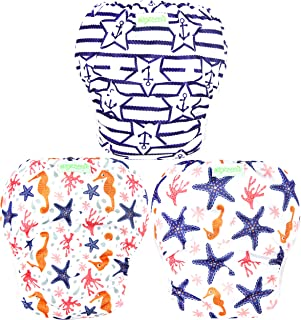 Wegreeco Baby & Toddler Snap One Size Reusable Baby Swim Diaper (Starfish, Small, 3 Pack)