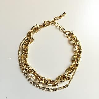 SunJewel layer gold chain bracelet