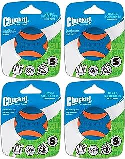 Chuck It (4 Pack) Ultra Squeaker Ball, Small