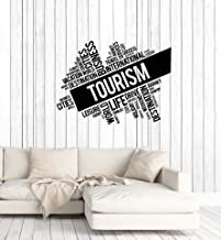 Large Vinyl Wall Decal Tourism Words Cloud Travel Agency Decor Idea Stickers Mural (ig5702)