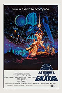 Movie Studio Release Vintage Poster 20 X 30 Star Wars Poster in Spanish 1977