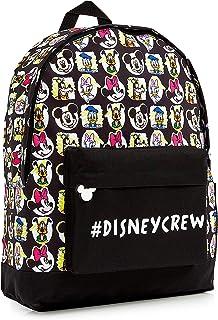 Disney Plecak dziecięcy, czarny plecak dla dziewczynek i chłopców z Myszką Mickey Mouse Wunderhaus Donald Pluto Minnie Mou...