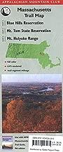 AMC Map Massachusetts:  Blue Hills Reservation/Mt. Tom State Reservation/Mt. Holyoke Range (Appalachian Mountain Club: Massachusetts Trail Map)