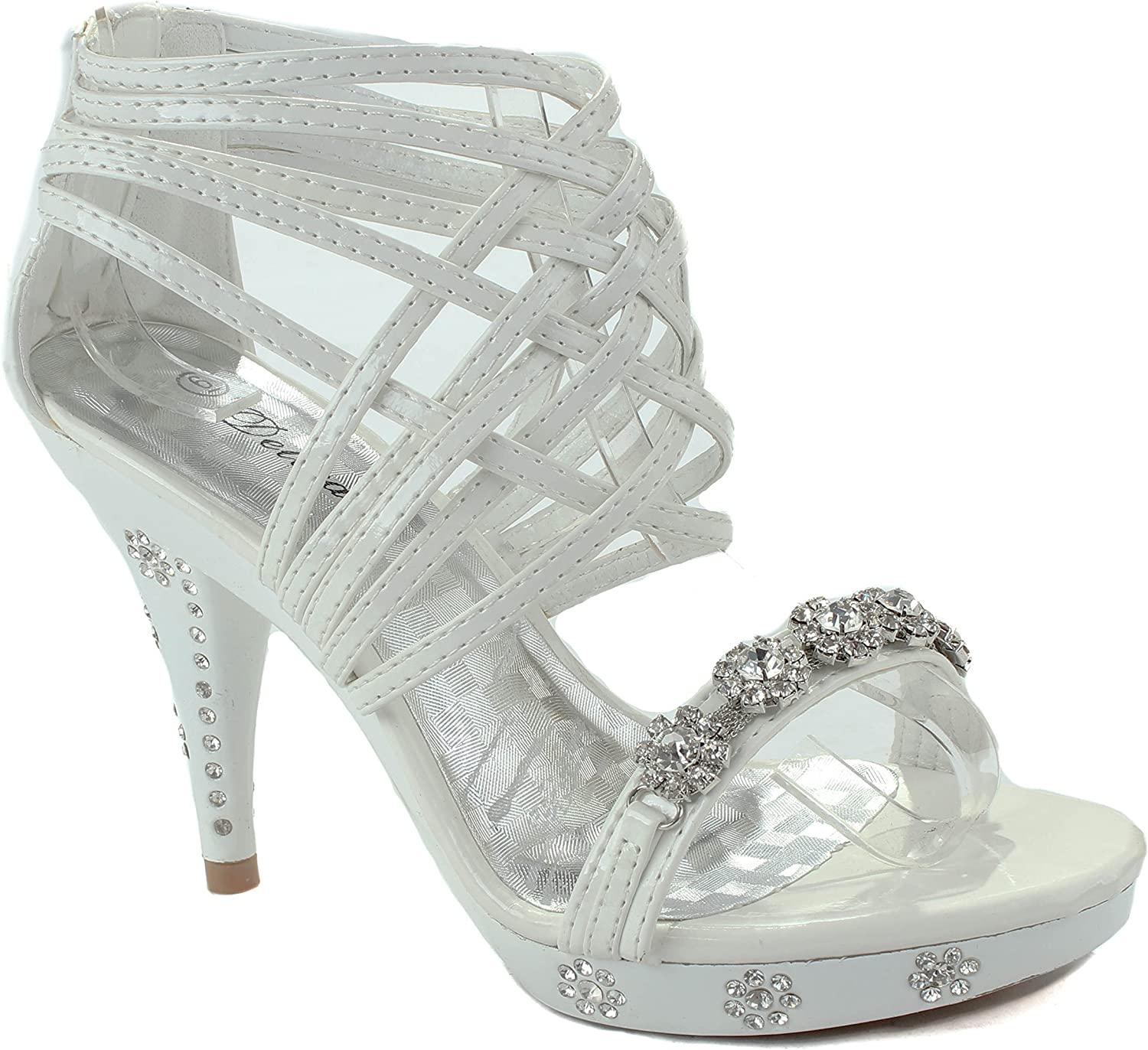 Delicacy Womens Teresa-27 White Party shoes 10 D(M) US