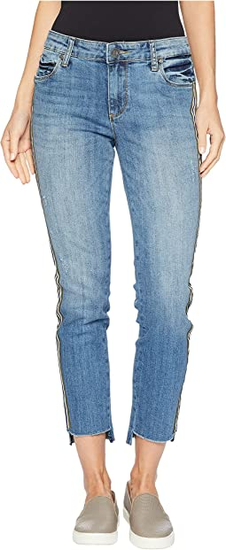 Reese Ankle Straight Leg w/ Fray Step Jeans in Literal