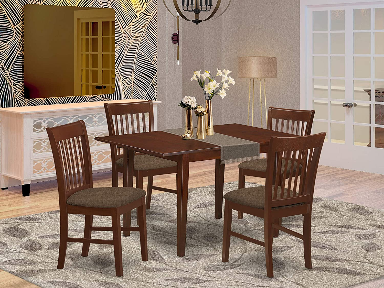 Amazon.com 9 PC dinette set for small spaces   small Table with 9 ...