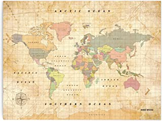 Mapamundi Corcho grande 100 x 55 cm Longivia Tabl/ón Mundo Mapamundi Autoadhesivo con banderines