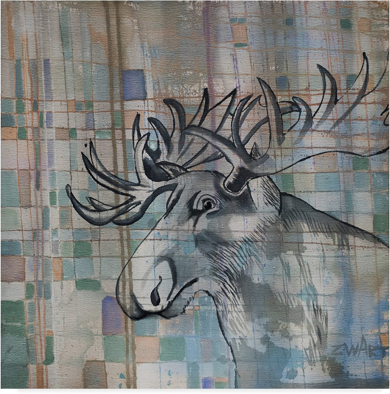 Moose Just Moose by Zwart, 14x14-Inch