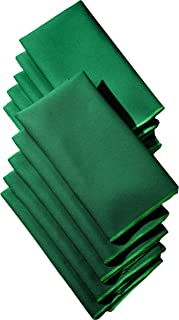 LA Linen 10-Pack Polyester Poplin Napkins 17 by 17-Inch, Emerald Green