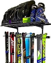 StoreYourBoard Omni Ski Wall Rack and Storage Shelf, Holds 10 Pairs, Ski Wall Mount, Home and Garage Storage Hanger