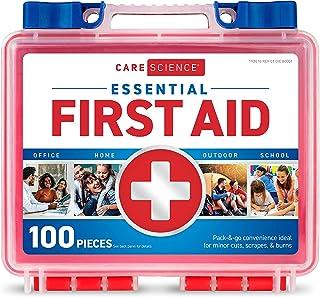 کیت کمک های اولیه علوم مراقبت ، 100 قطعه   استفاده حرفه ای برای سفر ، کار ، مدرسه ، خانه ، ماشین ، بقا ، کمپینگ ، پیاده روی و موارد دیگر