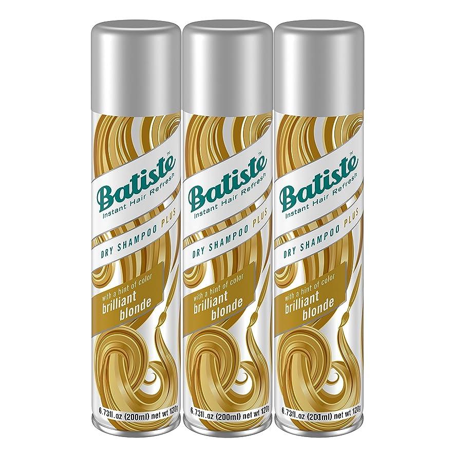 Batiste Dry Shampoo, Brilliant Blonde, 6.73 Fl Oz, Pack of 3