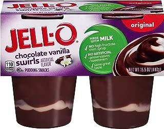 JELL-O Chocolate Vanilla Swirls Original Dessert Pudding (15.5 oz Package, 4 Cups)