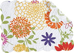 C&F Home, Set of 4, Lilly Quilted Placemat,  13X19