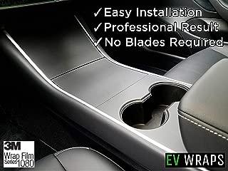 EV Wraps Tesla Model 3 Center Console Wrap - Matte Deep Black