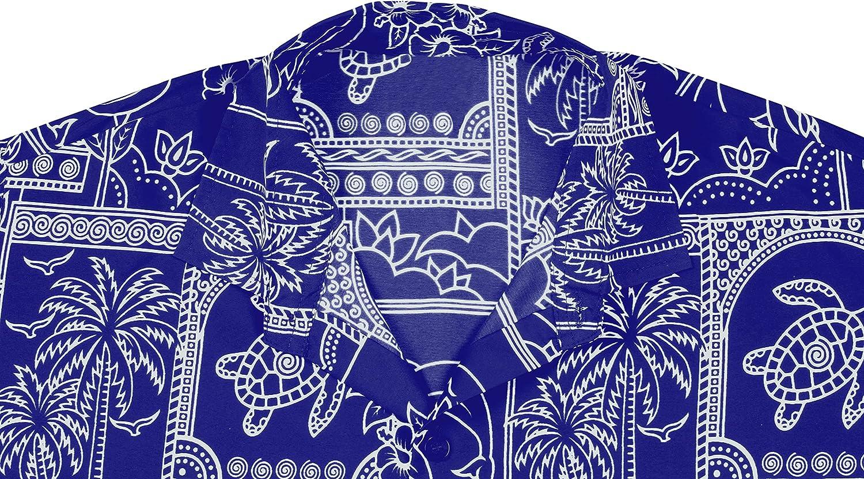LA LEELA Men Exotic New Plain Classic-Fit Short-Sleeve Casual Fashion Work Shirt