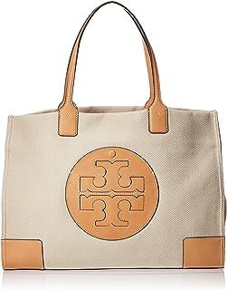 Tory Burch Ella Canvas Womens Tote Bag, Natural