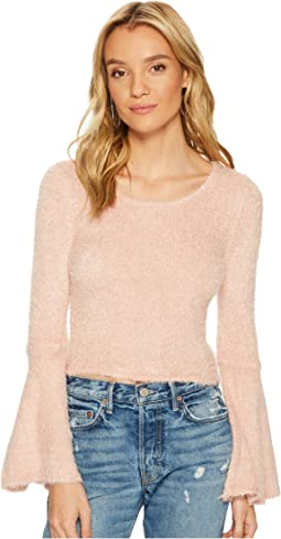 Regine Eyelash Bell Sleeve Sweater
