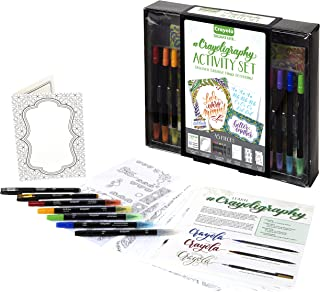 Crayola Crayoligraphy Crayola Beginner Hand Lettering Kit with Tutorials, Easier Than Calligraphy, 45 Pieces, Multicolor, ...