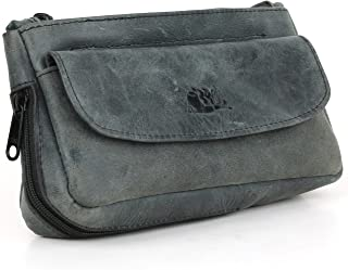 Tobacco Pipe Combo Pouch - Diesel Leather - [Slate Black]