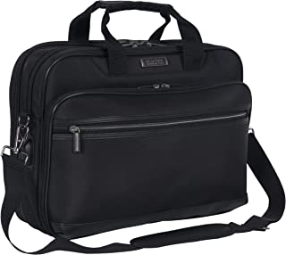 """Kenneth Cole Reaction Tech-IT Top Zip Anti-Theft RFID 15.6"""" Laptop & Tablet Case With USB Charging Port, Black"""