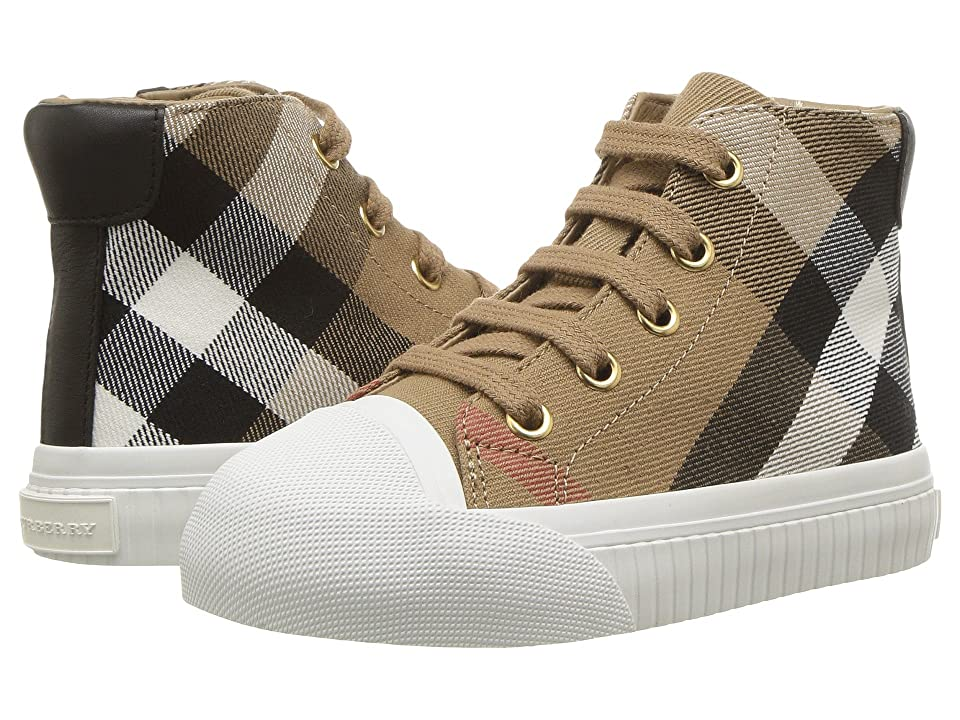 Burberry Kids Belford Check Trainer (Toddler) (Classic/Optic White) Kid