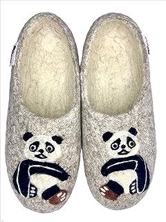 Women's Merino Wool Slippers, Handmade Felted, Comfy Home...