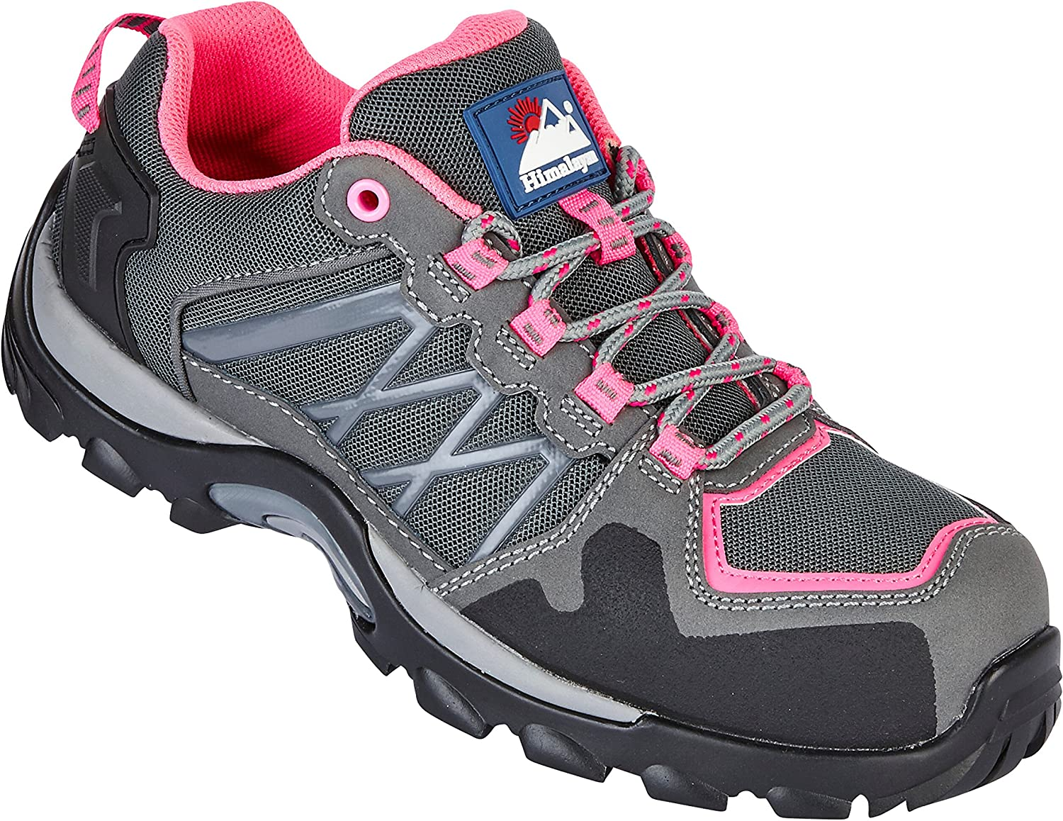 Himalayan 4302 S1P SRC Ladies Pink Grey Composite Toe Metal Free Safety Sports shoes Sneakers