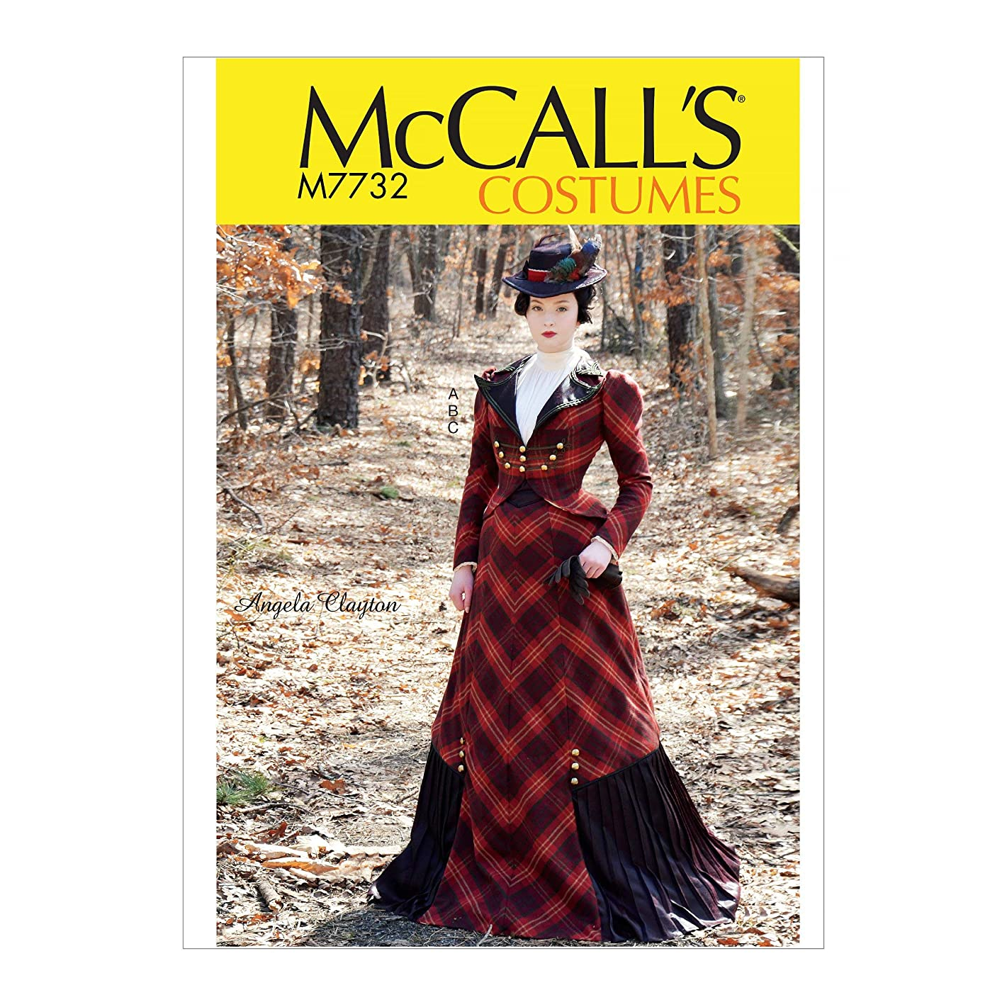 McCall's Patterns M7732AAX Victorian Dress Costume Sewing Pattern for Women by Angela Clayton, Sizes 4-10