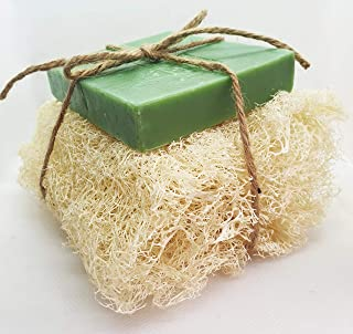 Ylabès Loofa with Avocado Oil and Lavender Natural Handmade Soap (145 grams) (Relaxing & Calming)