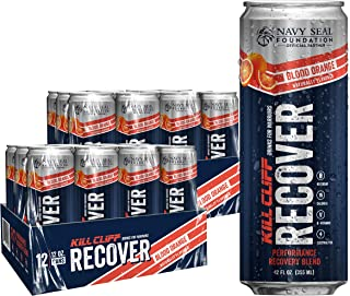 Sponsored Ad - KILL CLIFF Recovery Drink, Blood Orange, 12 Oz Cans, 24 Count - Clean Hydration, Low Cal, Electrolytes, B-V...