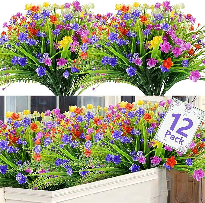 26 opinioni per Künstliche Blumen 12 Bündel SHEEPPING Kunstblumen Deko 5 Farben UV-Beständige