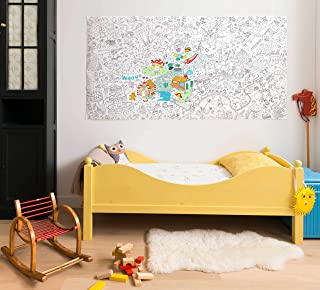 OMY Design and Play Giant Colouring Roll Fantastic (Large) by