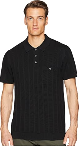 Todd Snyder Cotton Silk Ribbed Knit Polo